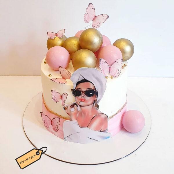 کیک پاپ آرت دخترانه مریم ادیب زاده