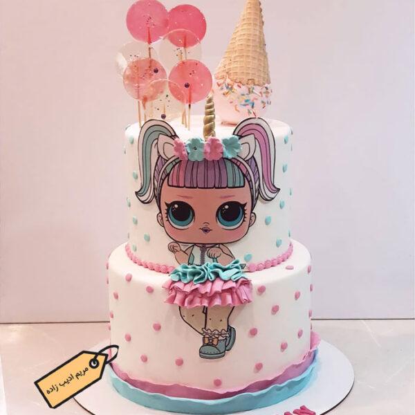 کیک کرتون lol خانم مریم ادیب زاده