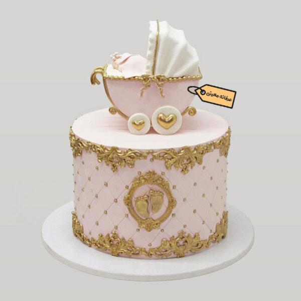 کیک یک طبقه کالسکه قناد معینی