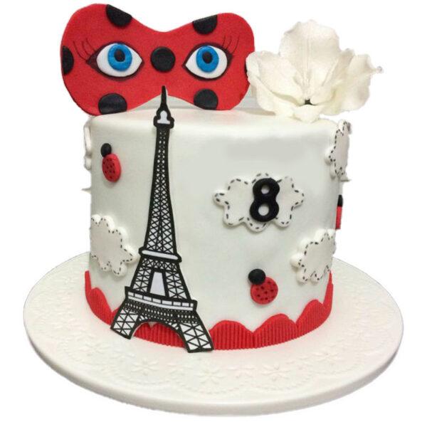 کیک خامه ای دختر کفشدوزکی