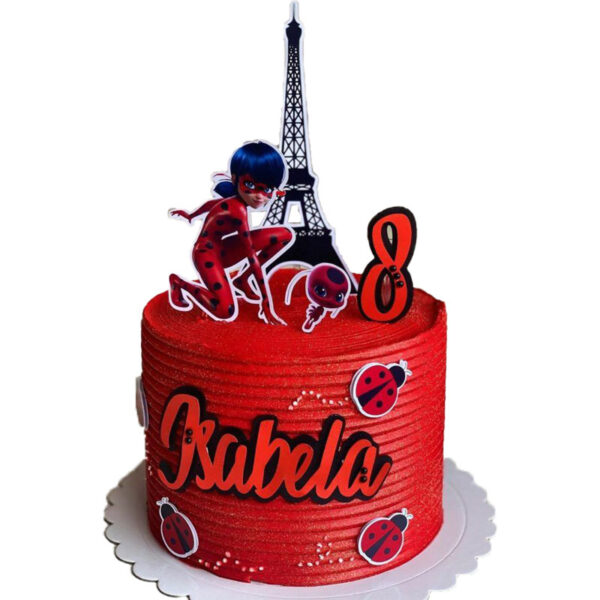 کیک به شکل دختر کفشدوزکی