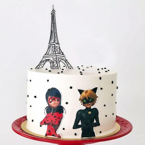 کیک با تم دختر کفشدوزکی