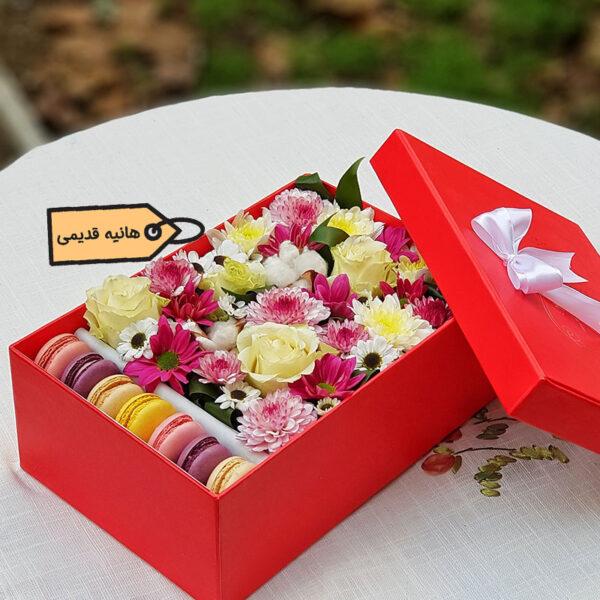 باکس گل و ماکارون خانم هنا