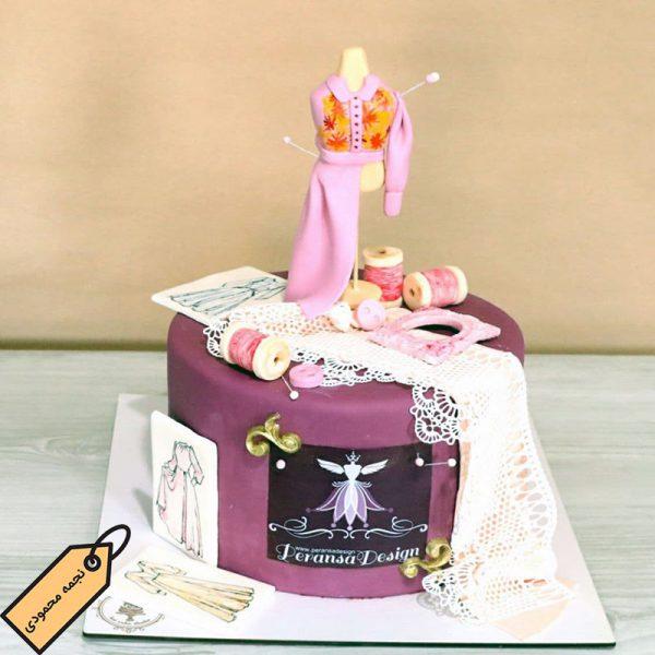 کیک خیاطی فوندانتی