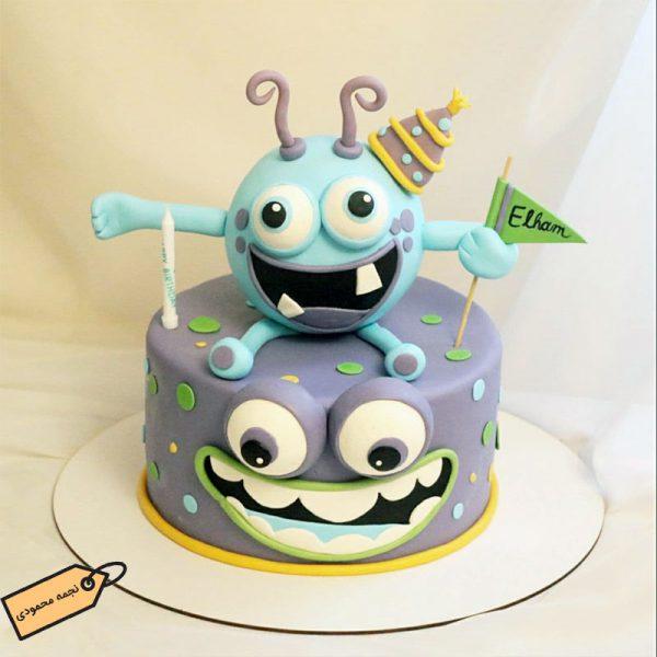 کیک هیولا فوندانتی