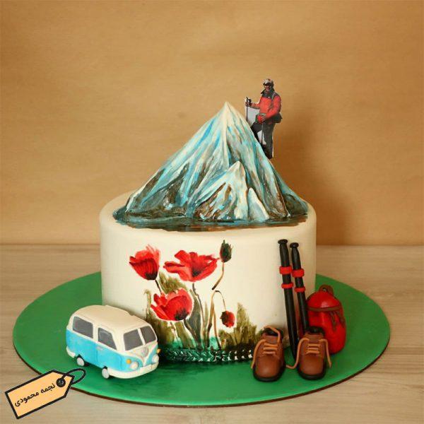 کیک کوه نورد فوندانتی